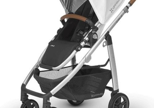 UppaBaby Uppa Baby Cruz Stroller In LOIC (White/Silver/Saddle Leather)
