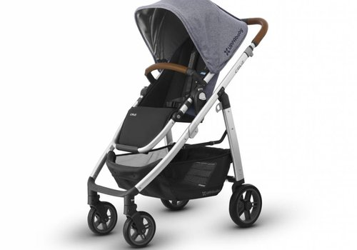 UppaBaby Uppa Baby Cruz Stroller In GREGORY (Blue Mélange/Silver/Saddle Leather)