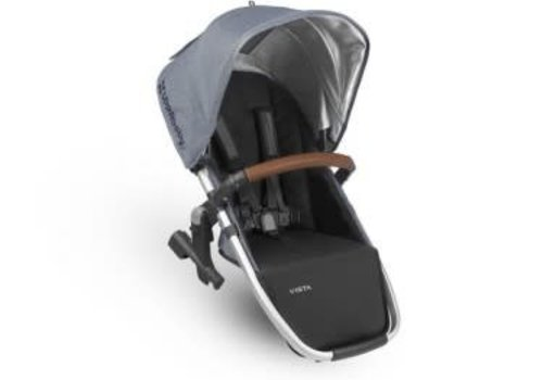 UppaBaby Uppa Baby Vista Rumble Seat (Only) In GREGORY (Blue Mélange/Silver/Saddle Leather)