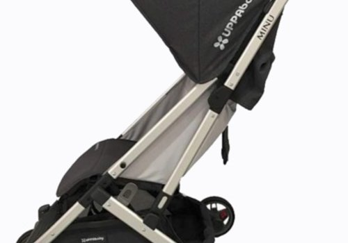UppaBaby Uppababy Minu Stroller In JORDAN (Charcoal Mélange/Silver/Black Leather)