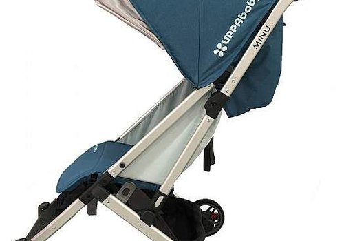 UppaBaby 2018 Uppababy Minu Stroller In RYAN (Teal Mélange/Silver/Saddle Leather)