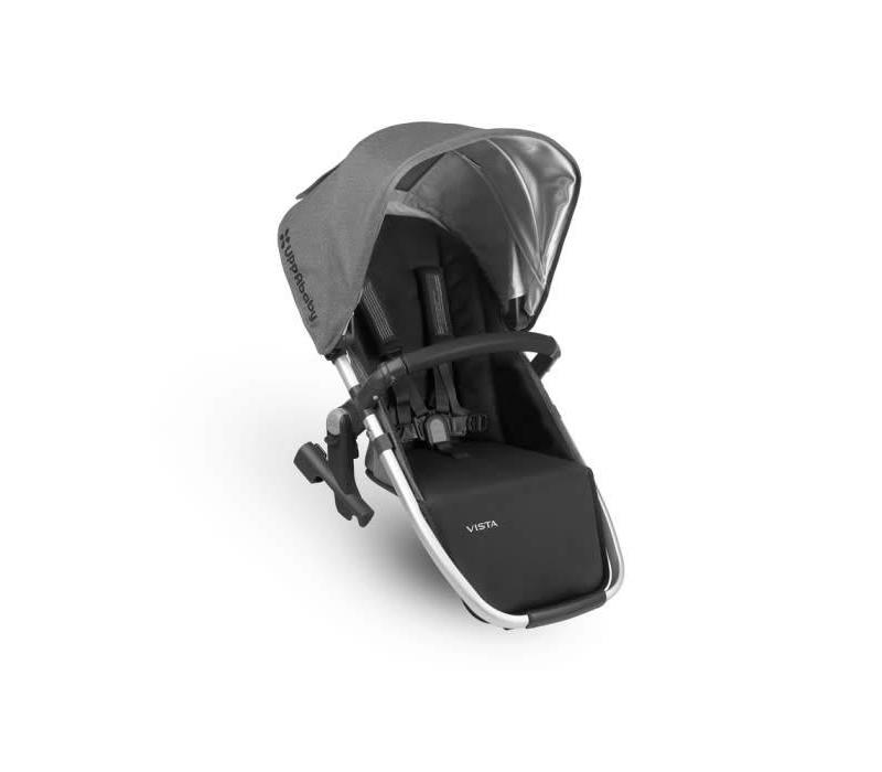 Uppa Baby 2018 Vista Rumble Seat (Only) In JORDAN (Charcoal Mélange/Silver/Black Leather)