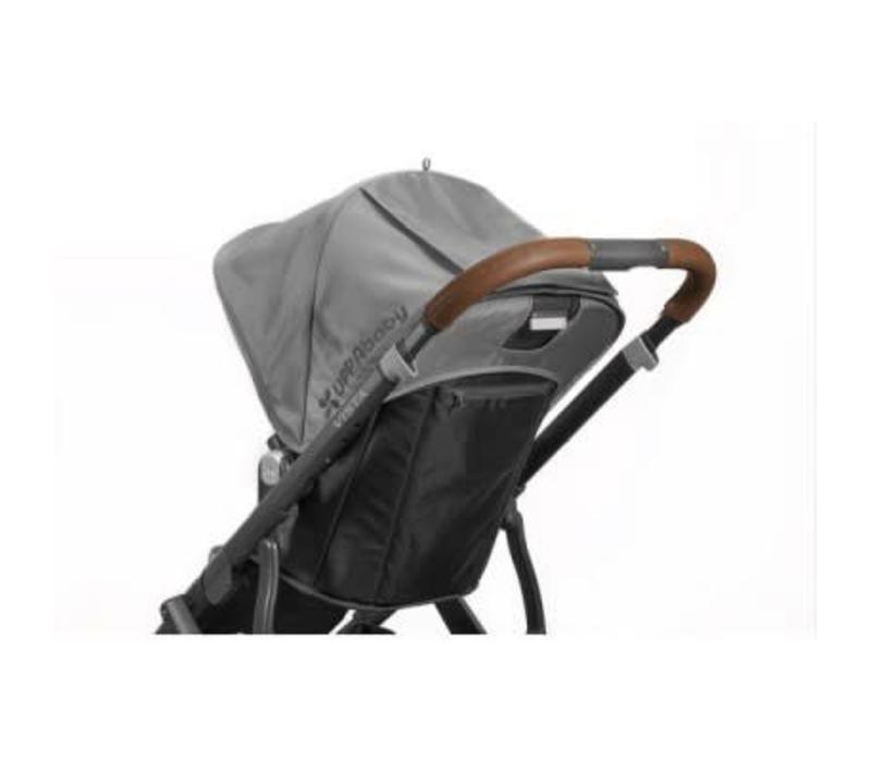 Uppa Baby Vista Leather Brown Handlebar Covers-Saddle For Vista 2015-Later