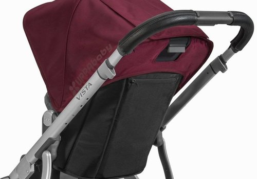 UppaBaby Uppa Baby Vista Leather Black Handlebar Covers-Saddle For Vista 2015-Later