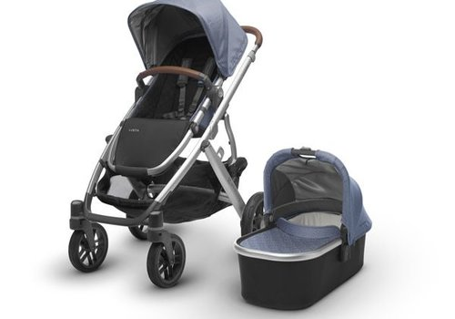 UppaBaby Uppa Baby Vista Stroller In Henry (Blue Marl/Silver/Saddle Leather)
