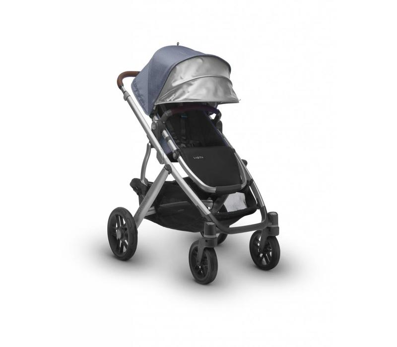 Uppa Baby Vista Stroller In Henry (Blue Marl/Silver/Saddle Leather)