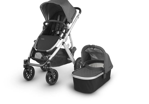 UppaBaby Uppa Baby Vista Stroller In JORDAN (Charcoal Mélange/Silver)