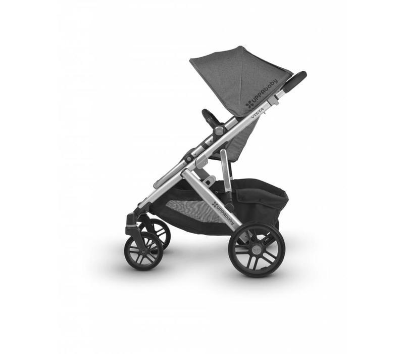 2018 Uppa Baby Vista Stroller In JORDAN (Charcoal Mélange/Silver)