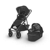 2018 Uppa Baby Vista Stroller In Jake (Black/Carbon/Black Leather)