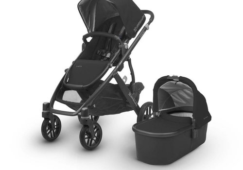 UppaBaby Uppa Baby Vista Stroller In Jake (Black/Carbon/Black Leather)
