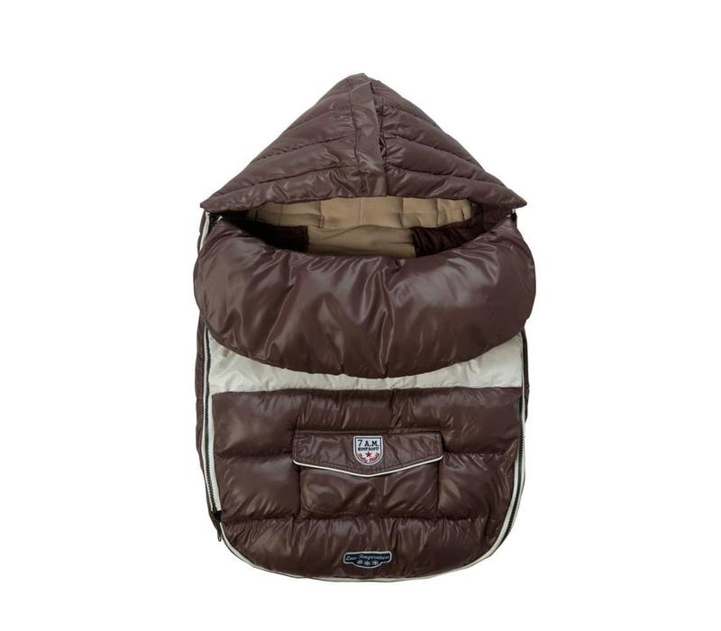FINAL SALE!! 7 A.M. Enfant Baby Shield Medium Footmuff In Marron Glace