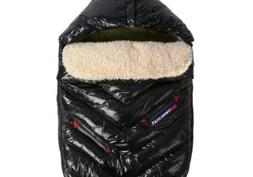 7 AM 7 A.M. Enfant Polar Igloo Toddler Footmuff In Black - 12 Month-2 Toddler