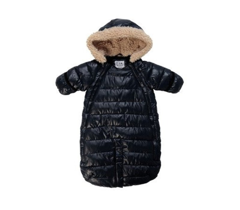 7 A.M. Snow Suit Bunting Doudoune Medium In Black