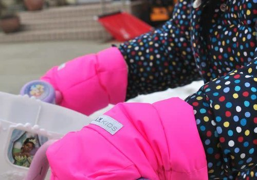 7 AM FINAL SALE 7 A.M. Enfant Handmuffs Warmmuffs Fleece Lined In Candy