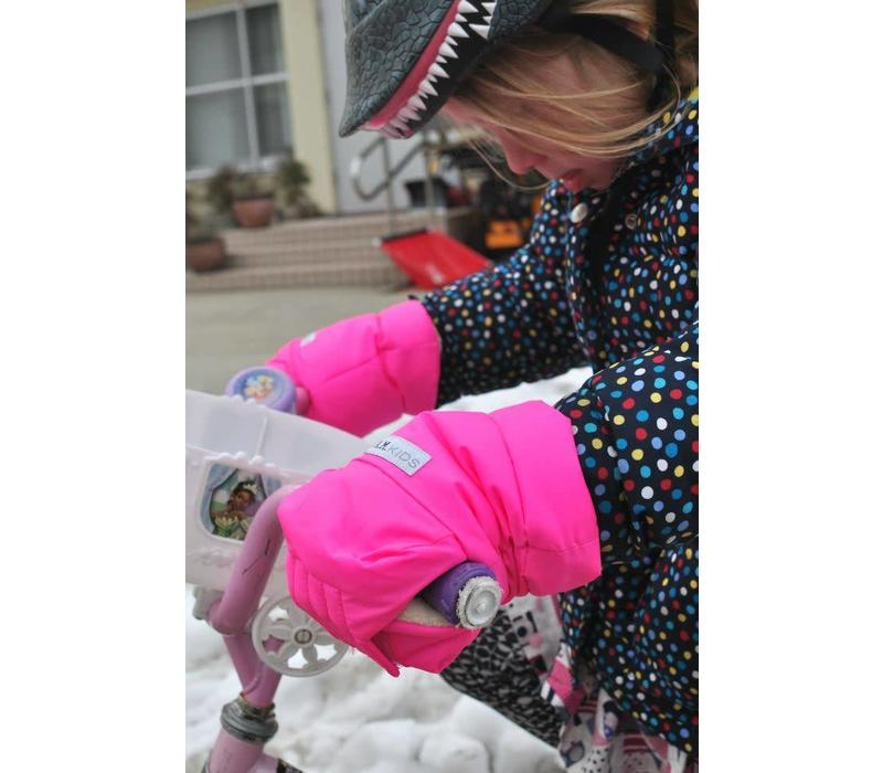 FINAL SALE 7 A.M. Enfant Warmmuffs Fleece Lined In Candy