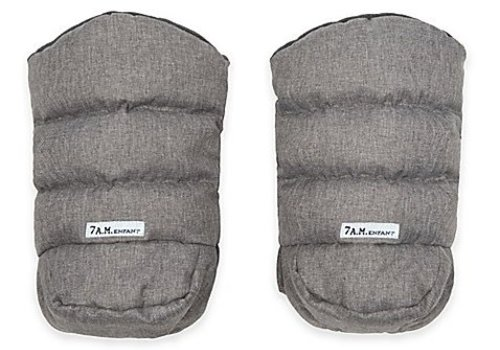 7 AM 7 A.M. Enfant Handmuffs Warmmuffs In Heather Grey