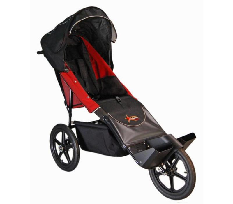 Adaptive Star Axiom Endeavour 3 Indoor and Outdoor Mobility Push Chair In Red