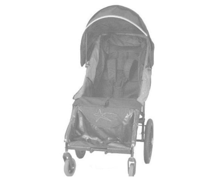 Adaptive Star Axiom Lassen 3 Indoor and Outdoor Mobility Push Chair In Navy