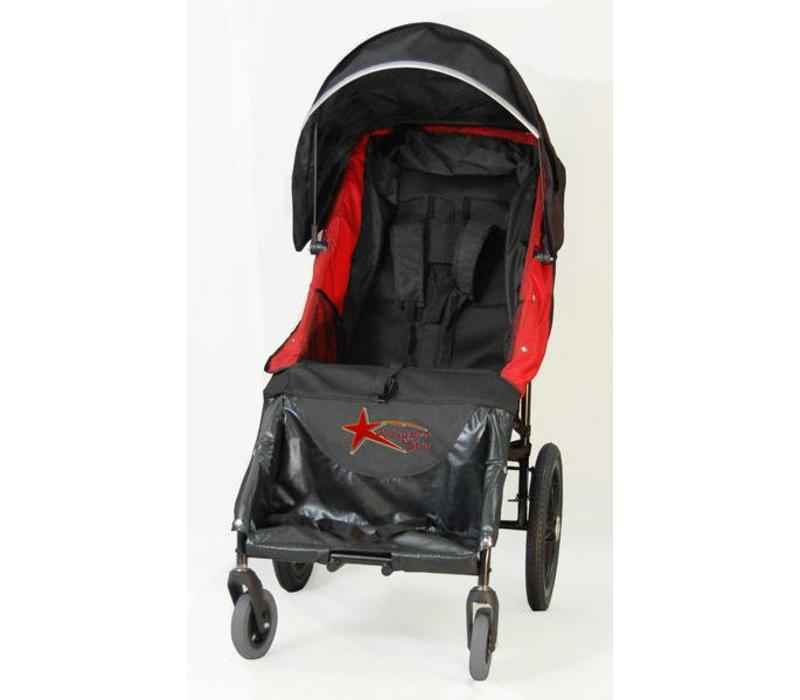 Adaptive Star Axiom Lassen 4 Indoor and Outdoor Mobility Push Chair In Red