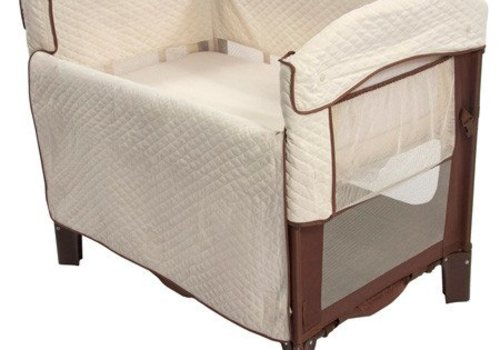 Arms Reach Arm's Reach Ideal Co-Sleeper Bedside Bassinet In Cocoa-Natural