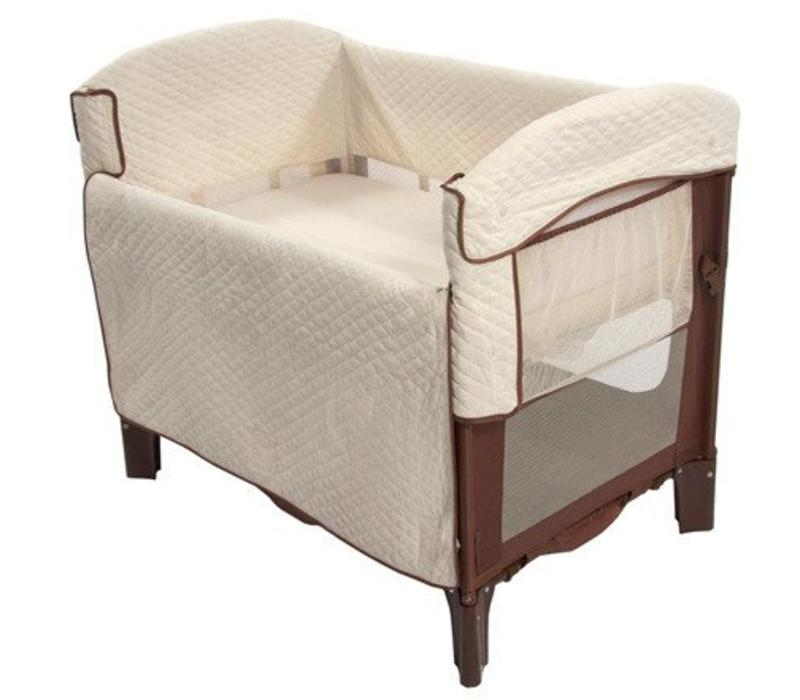 Arm's Reach Ideal Co-Sleeper Bedside Bassinet In Cocoa-Natural