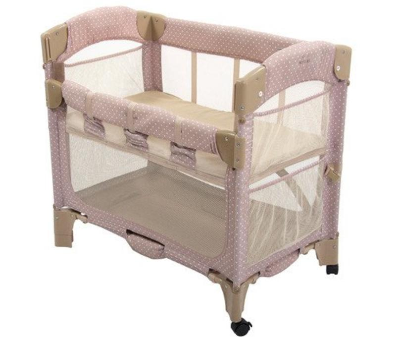 Arm's Reach Mini Arc Co-Sleeper In Toffee Dot