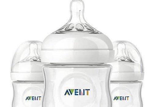 Avent Philips Avent Natural 4 Ounce BPA Free Bottle, 3 Pack In Clear