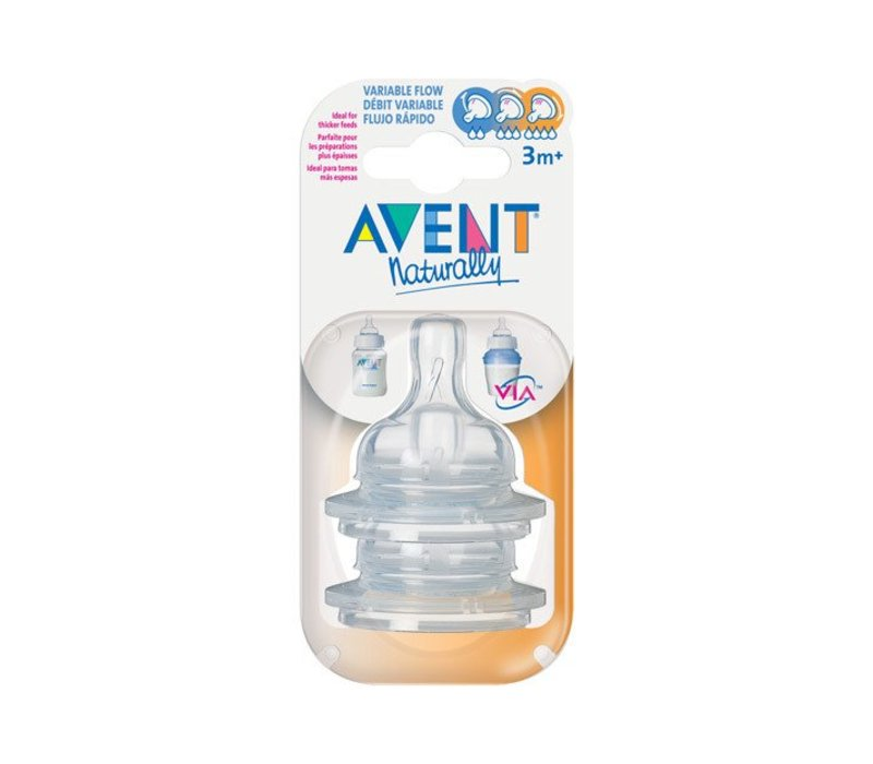 Philips Avent Classic Variable Flow Nipple  2 In A Package