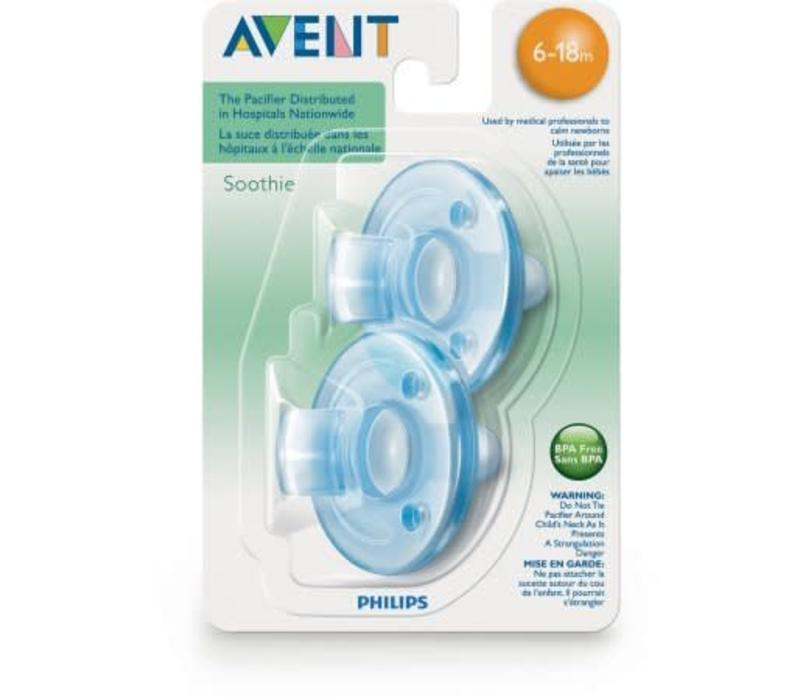 Philips AVENT Soothie Pacifier, 0-3 Months, 2-Pack, Blue