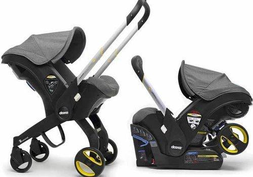 Doona Doona Infant Car Seat - Stroller With Infant Car Seat Base Grey-Storm