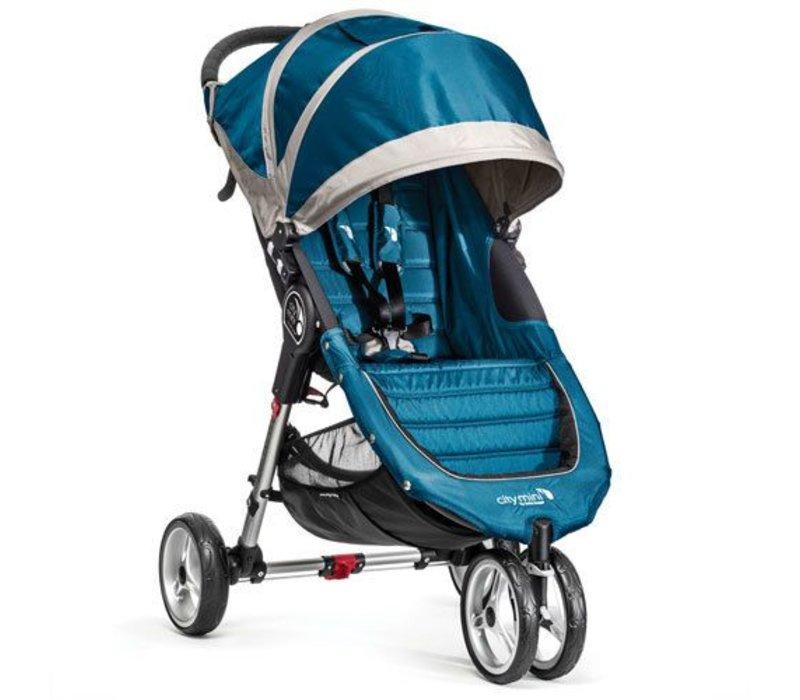 2018 Baby Jogger City Mini 3 Wheel Single In Teal - Gray