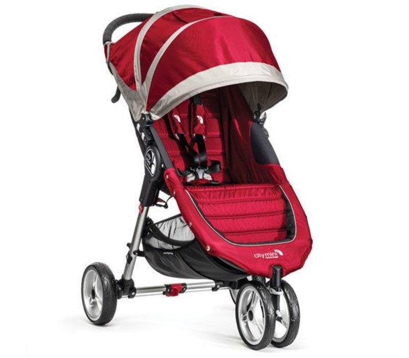 2018 Baby Jogger City Mini 3 Wheel Single In Crimson - Gray
