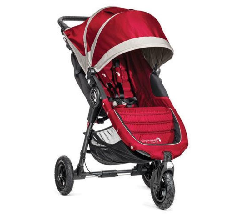 2018 Baby Jogger City Mini GT Single In Crimson - Gray