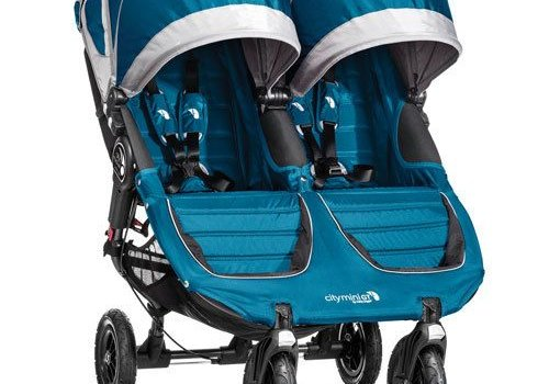Baby Jogger 2018 Baby Jogger City Mini GT Double In Teal - Gray