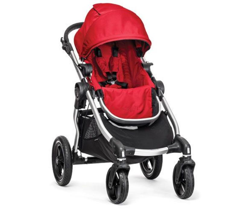 2017 Baby Jogger City Select Single In Ruby With Silver Frame