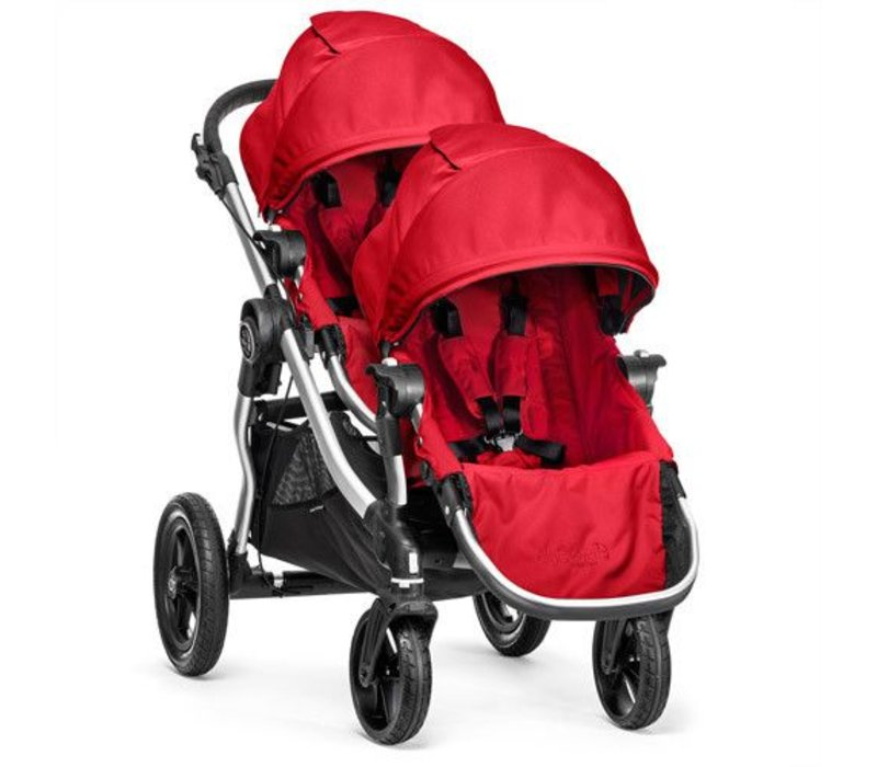 2018 Baby Jogger City Select With Second Seat In Ruby With Silver Frame