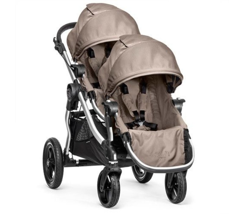 2018 Baby Jogger City Select With Second Seat In Quartz With Silver Frame