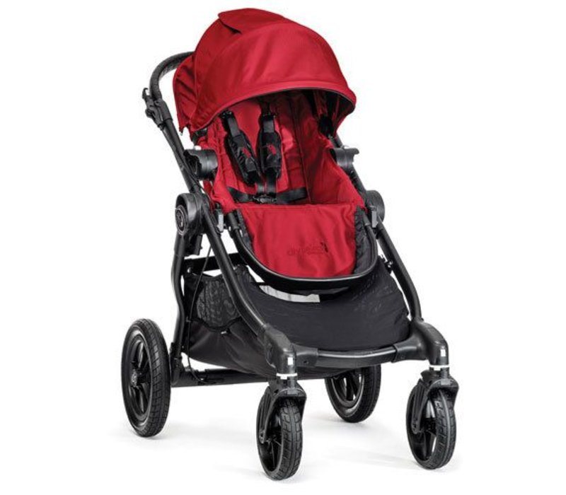 2018 Baby Jogger City Select Single In Red With Black Frame