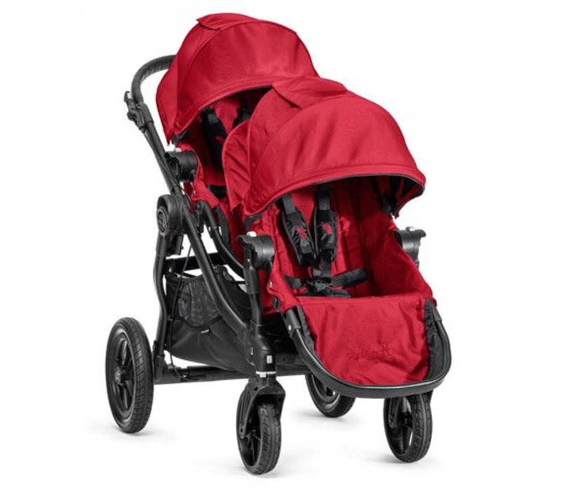 2017 Baby Jogger City Select With Second Seat In Red With Black Frame
