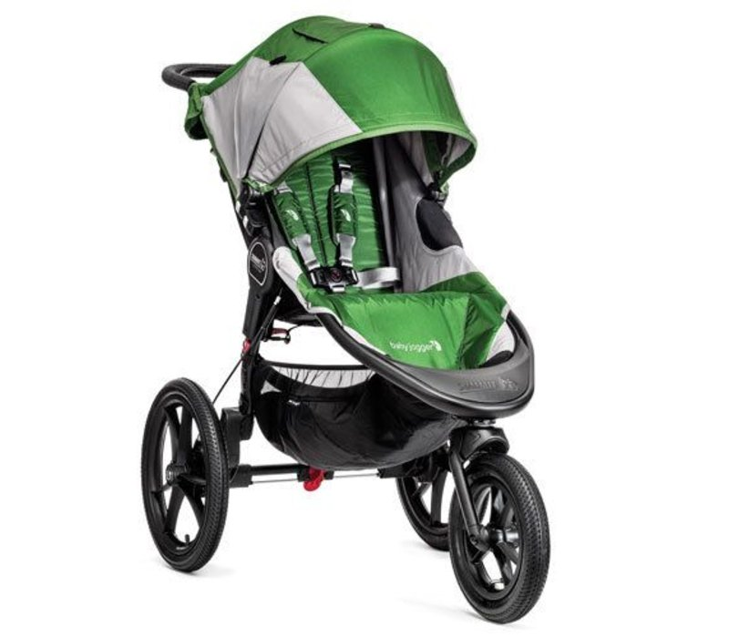 Baby Jogger Summit X3 Single Stroller In Green - Gray