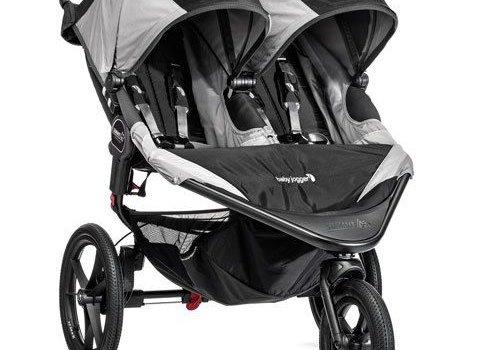 Baby Jogger Baby Jogger Swivel Summit X3 Double Black-Gray