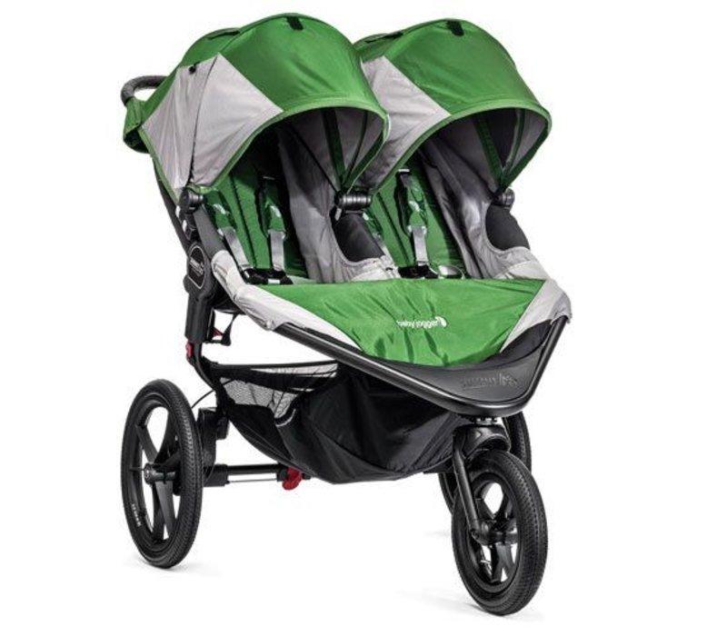 Baby Jogger Swivel Summit X3 Double Green-Gray