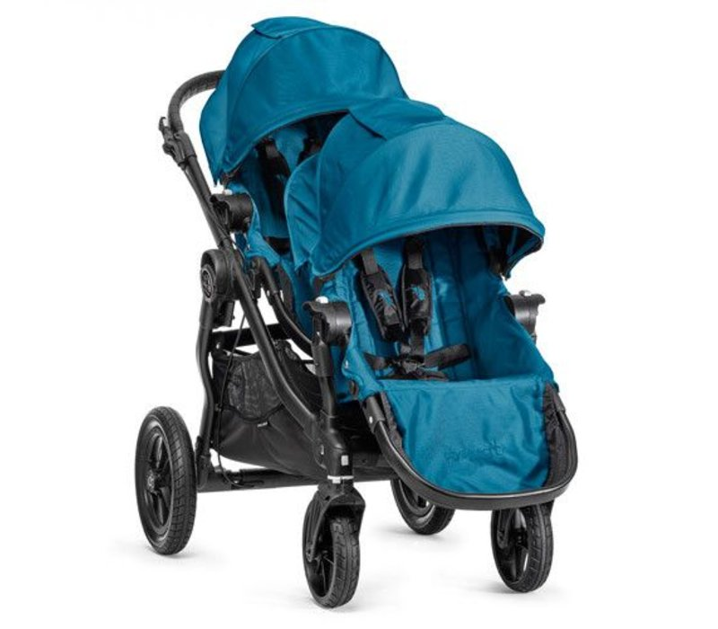 2018 Baby Jogger City Select With Second Seat In Teal With Black Frame