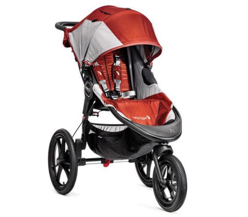 Baby Jogger Summit X3 Single Stroller In Orange- Gray