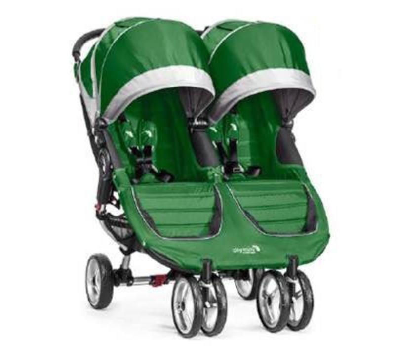 2018 Baby Jogger City Mini Double In Evergreen-Gray