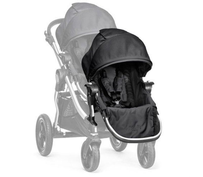 2018 Baby Jogger City Select Second Seat Kit In Onyx- Silver Frame
