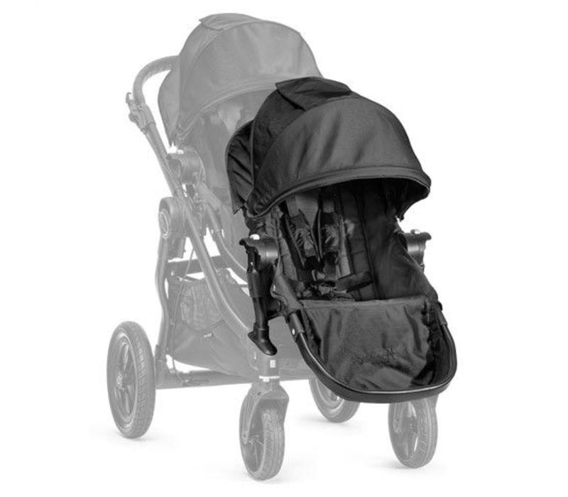 2018 Baby Jogger City Select Second Seat Kit In Black- Black Frame