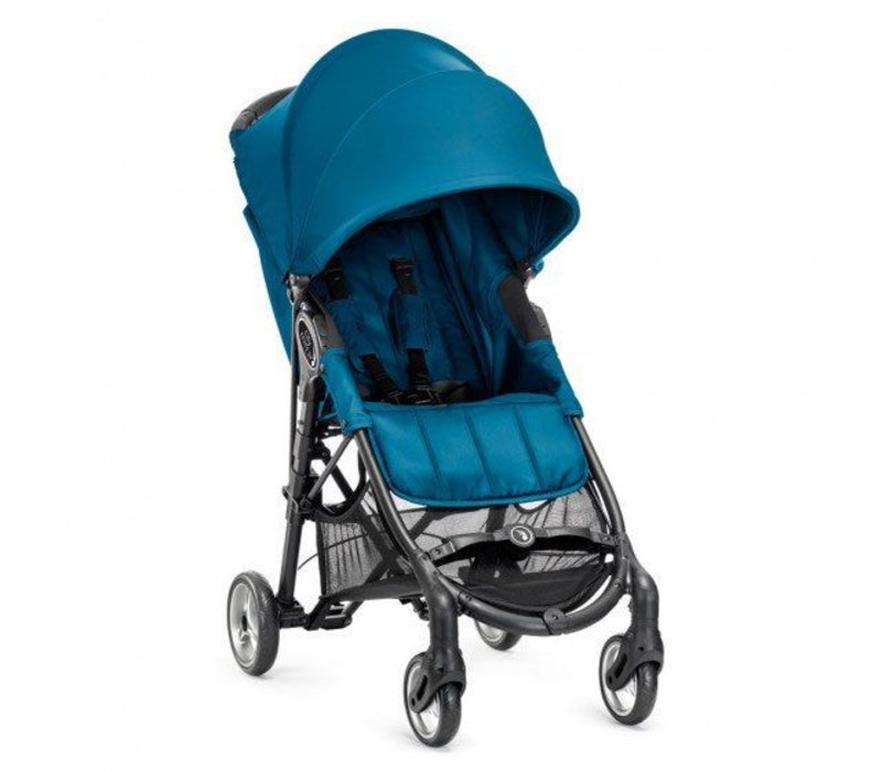 2017 Baby Jogger City Mini Zip Wheel Single In Teal - Gray With Cup Holder