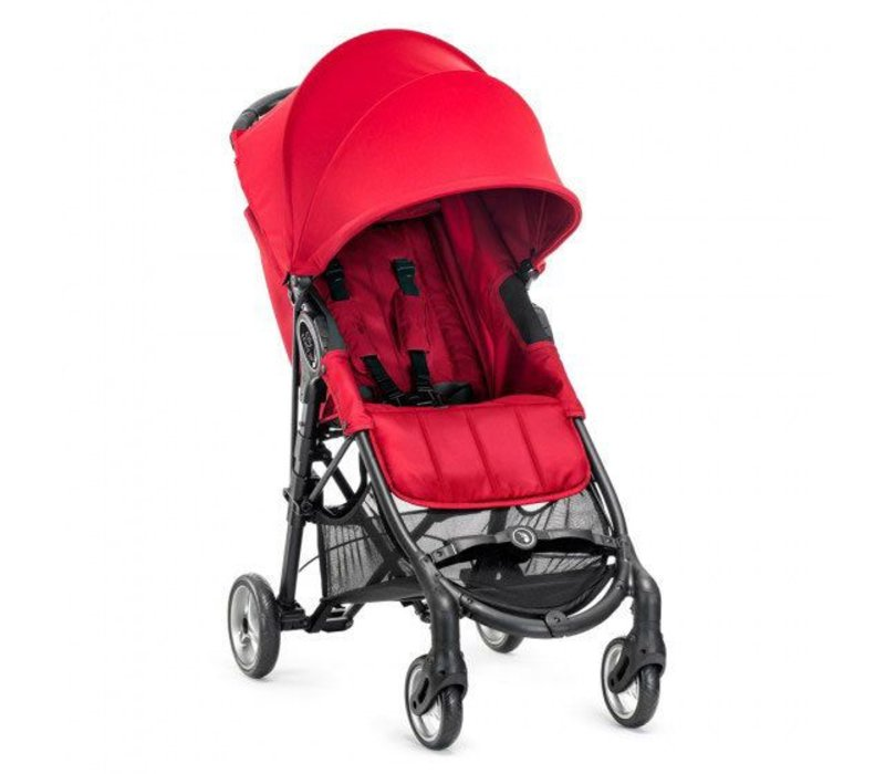 2017 Baby Jogger City Mini Zip Wheel Single In Red - Gray With Cup Holder