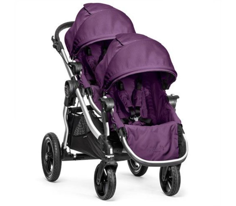 2018 Baby Jogger City Select With Second Seat In Amethyst With Silver Frame